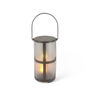 The Gerson Companies Fireglow LED Metal Lantern