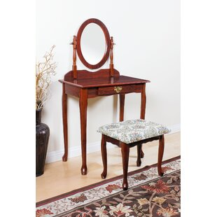 Charlton Home Hertfordshire Vanity Set with Mirror