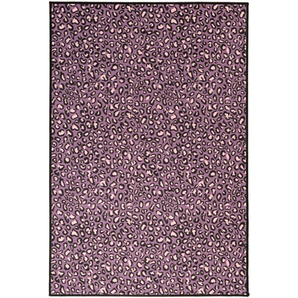 Ottomanson Pink Purple Animal Print Leopard Area Rug U0026 Reviews | Wayfair