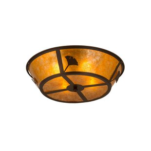 Meyda Tiffany Ginkgo 4-Light Flush Mount