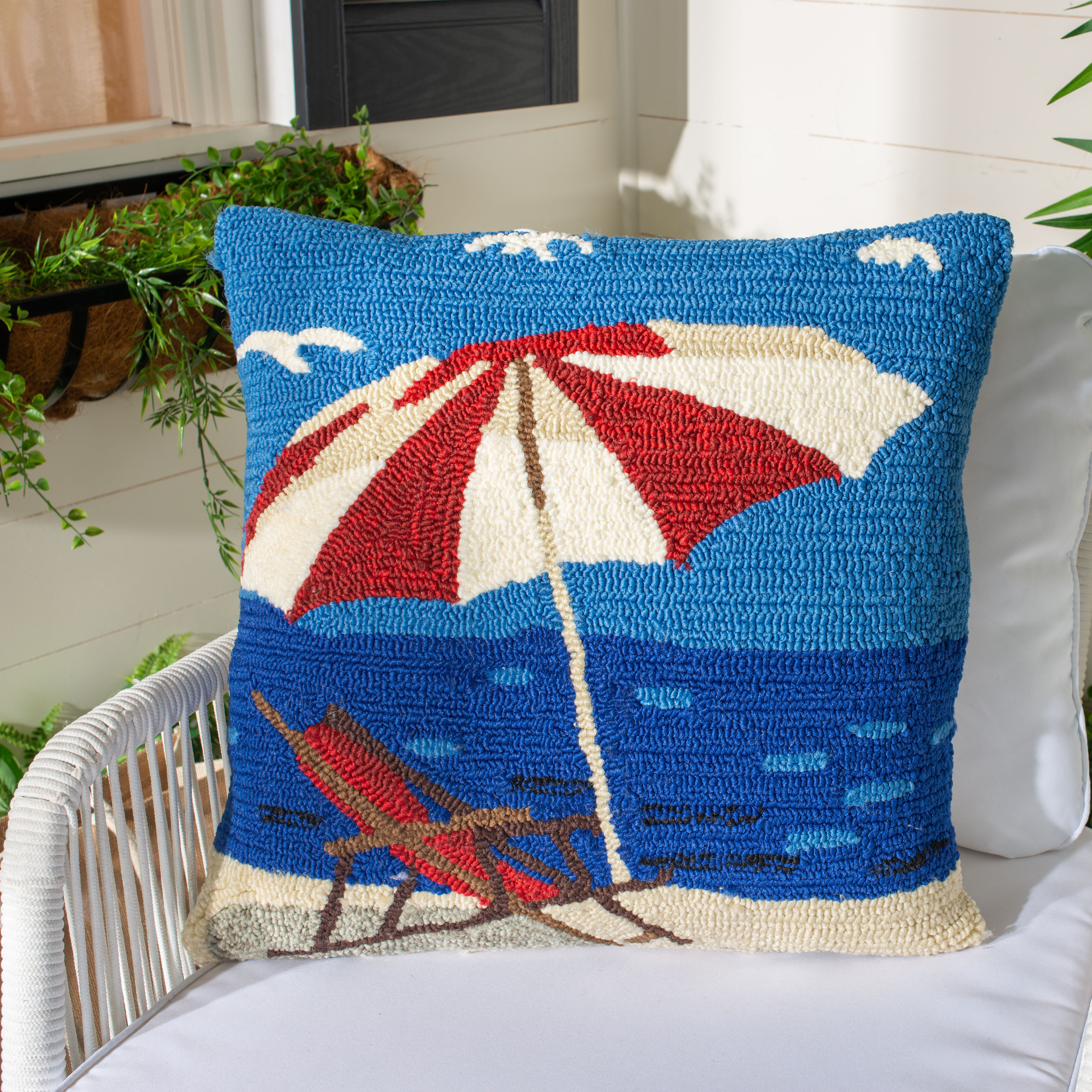 Breakwater Bay Mellon Seaside Lounge Throw Pillow Reviews Wayfair