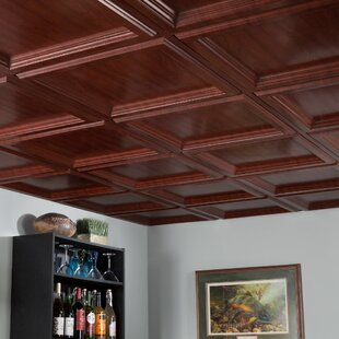 drop in ceiling tile in cherry by fasade - Fasade Ceiling Tiles
