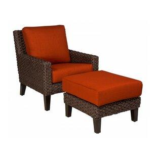 Woodard Mona Ottoman with Cushion