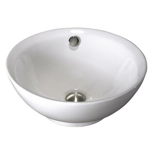 Read Reviews Above Counter Porcelain Circular Vessel Bathroom Sink By Lenova