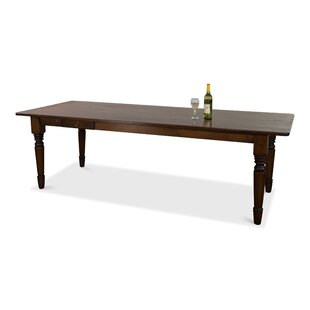 Dotson Turned Leg Solid Wood Dining Table