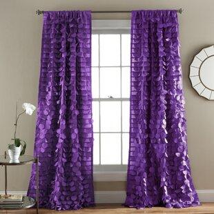 Queen Light Filtering Single Curtain Panel