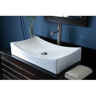 Great Price Jalbert Ceramic Rectangular Vessel Bathroom Sink ByBloomsbury Market