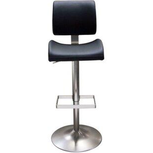 Jaina Leatherette Upholstered Adjustable Height Bar Stool