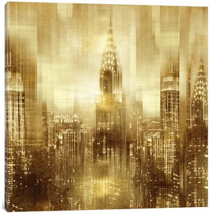 U0027NYC   Reflections In Gold Iu0027 Graphic Art Print On Canvas