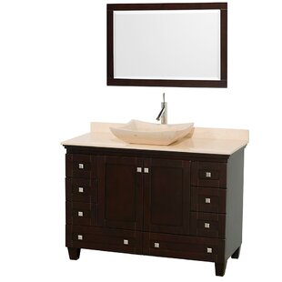 Acclaim 48 Single Bathroom Vanity Set with Mirror by Wyndham Collection