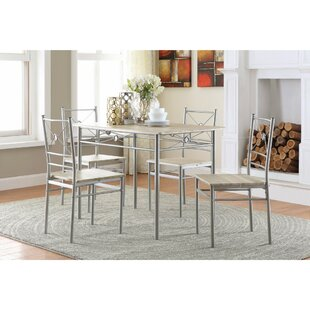 Constandache 5 Piece Dining Set Ebern Designs