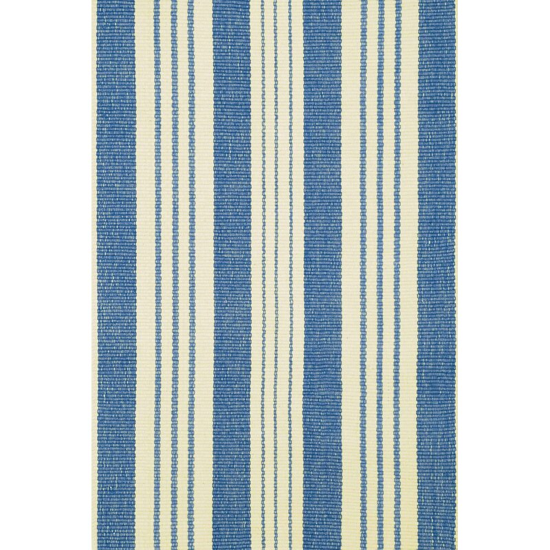 Dash And Albert Rugs Striped Handwoven Cotton Blue Beige Area Rug Reviews Wayfair
