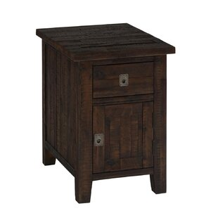 Thaddeus Wooden Cabinet End Table with Storage by Longshore Tides