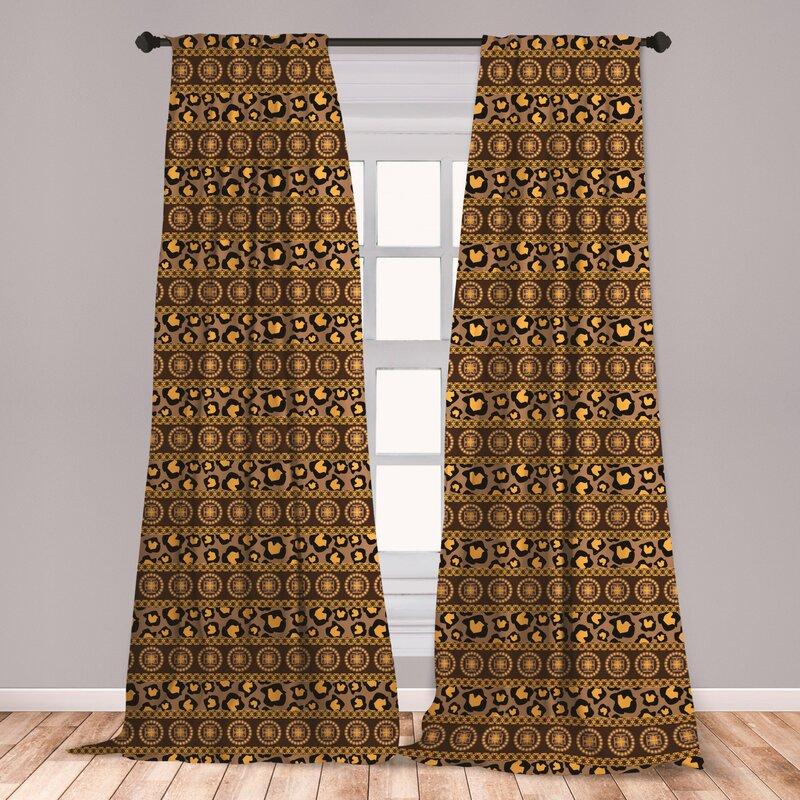 East Urban Home African Striped Room Darkening Rod Pocket Curtain Panels Wayfair