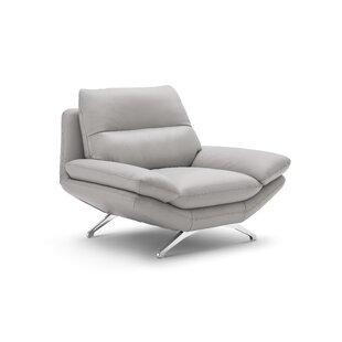 Orren Ellis Brandonville Leather Slipper Chair