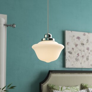 Karen 1-Light Schoolhouse Pendant by August Grove