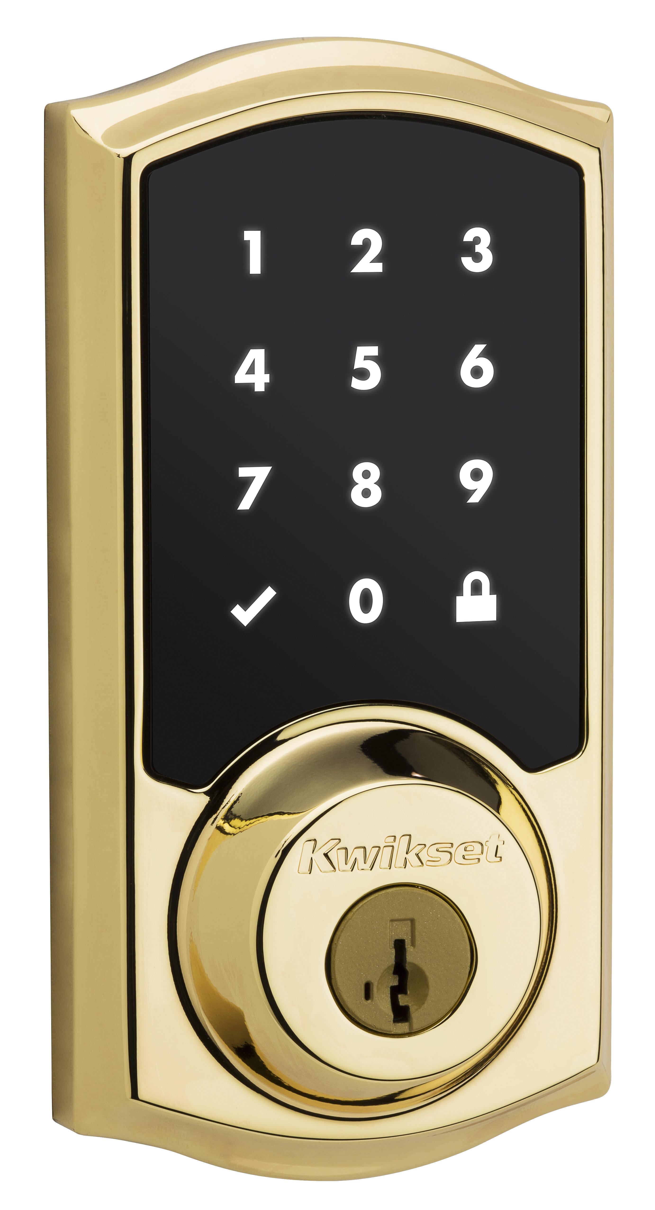 """KWIKSET  Adjustable  Door Deadbolt For SmartCode 2 3//8/"""" 2 3//4/"""" Nickel Satin"""