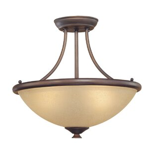 Fleur De Lis Living Southwold 3-Light Semi-Flush Mount