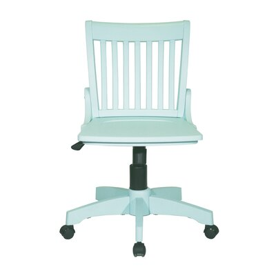 Gravely Armless Bankers Chair Color: Mint by Beachcrest Home