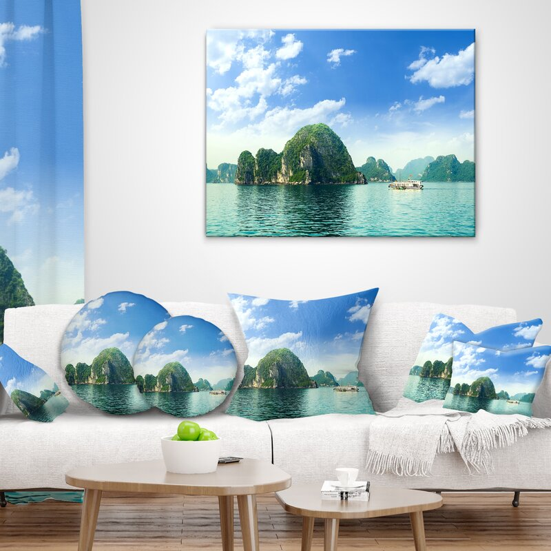 East Urban Home Ha Long Bay In Vietnam Seascape Pillow