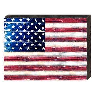 d25eb14abeae American Flag Rustic Wood Board Painting Print Wall Décor