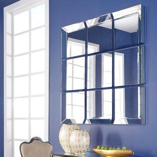 Buy luxury 9 Piece Grid Wall Mirror ByLatitude Run