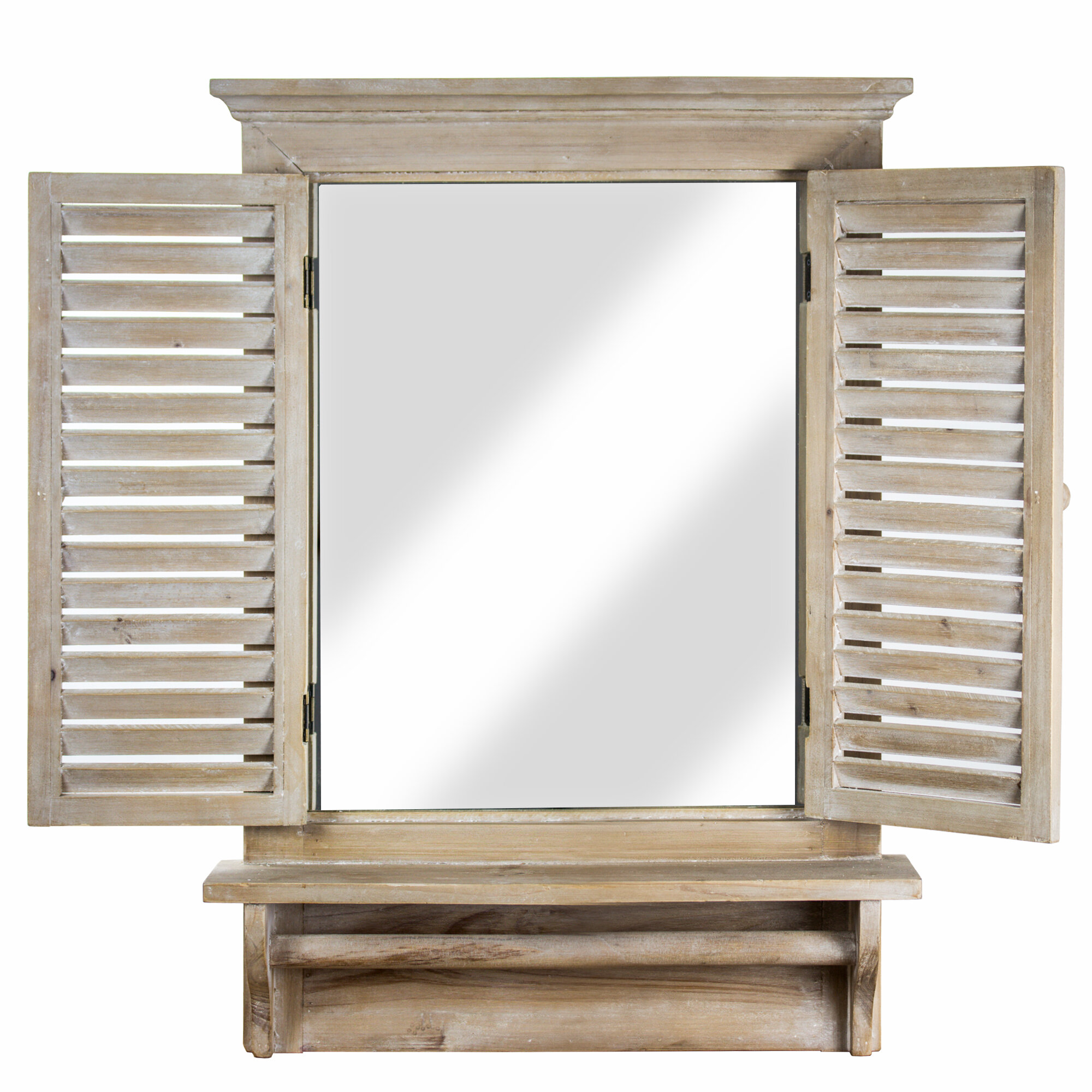 Beige Shelves Wall Mirrors You Ll Love In 2021 Wayfair
