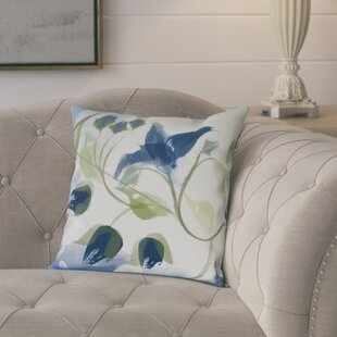 Roscoe Windy Bloom Floral Outdoor Throw Pillow