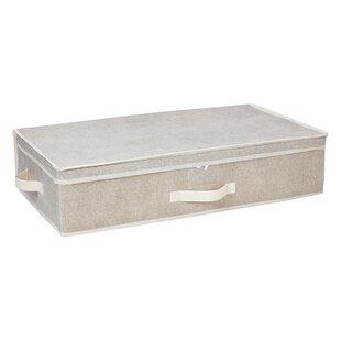 Price comparison Faux Rattan Vertical Weave Shelf Tote By Simplify