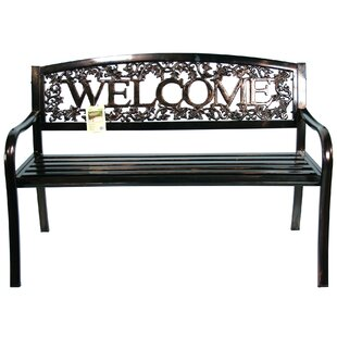 Metal Welcome Bench