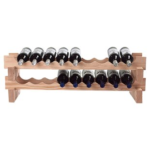 Stackable Rack 18 Bottle Tabletop Wine Ra..