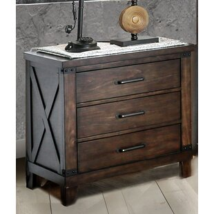 Loon Peak Daramanivong 3 Drawer Nightstand
