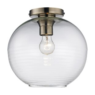 Rone 1-Light Semi Flush Mount by Breakwater Bay