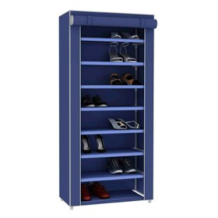 Buy clear 24-Pair Shoe Storage Cabinet By Sunbeam