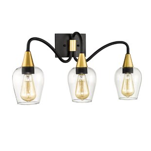 Deals Yeager 3-Light Vanity Light ByMercer41
