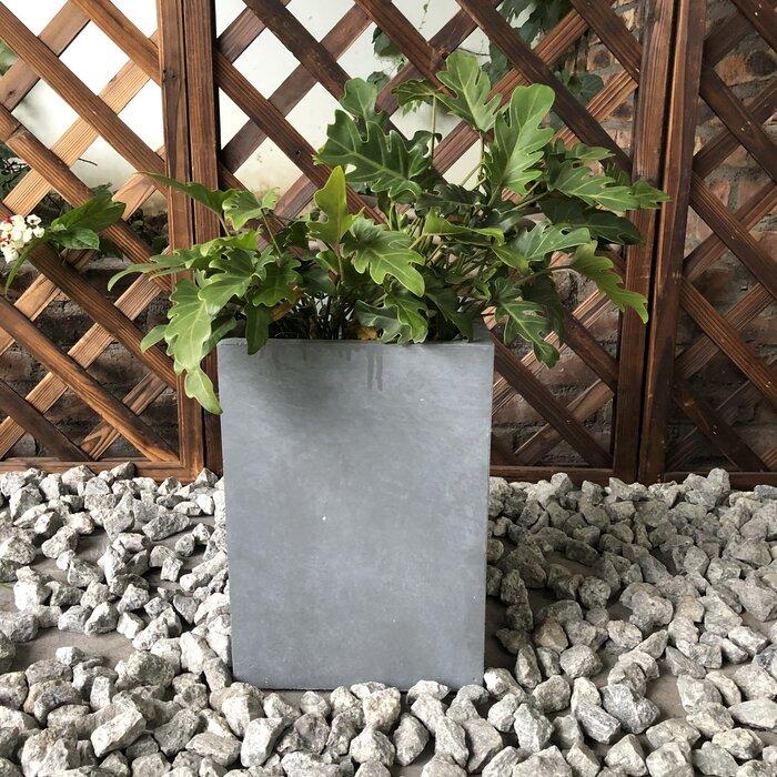 Fulton Tall Square Concrete Planter Box