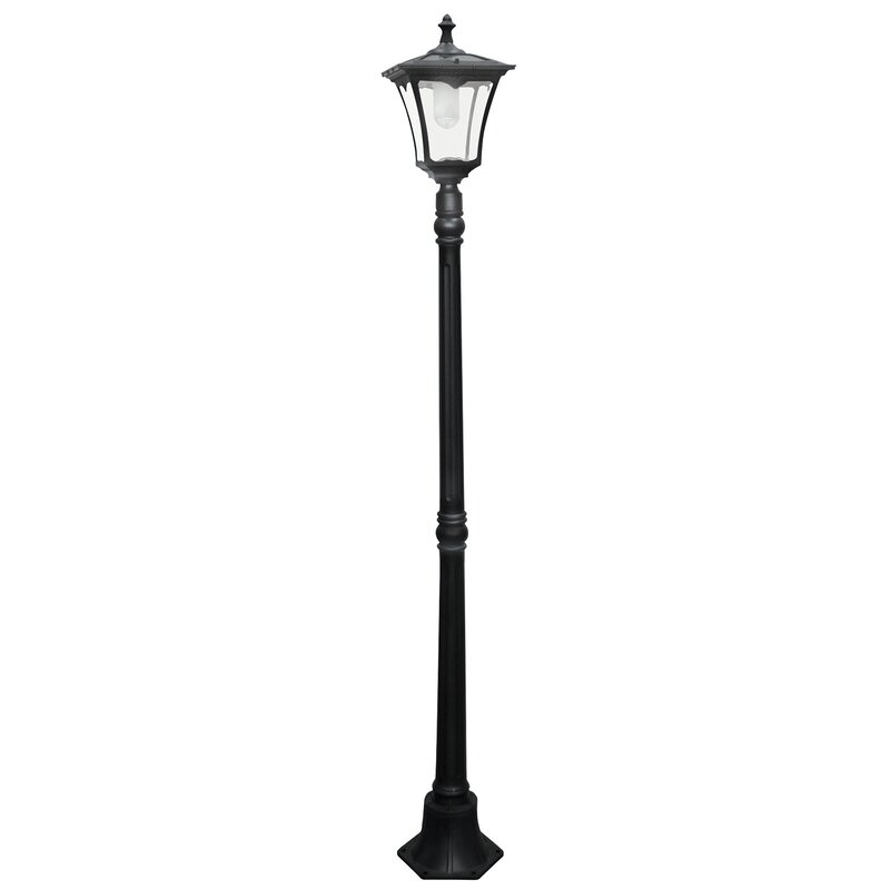 Solar powered 1 light led 80 post light reviews birch lane solar powered 1 light led 80 post light aloadofball Image collections