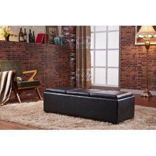 NOYA USA Contemporary Fabric Storage Bench
