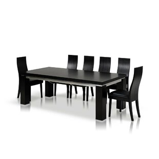 Clower Black Extendable Dining Table by Orren Ellis