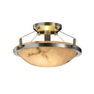 Bloomsbury Market Odalis Round Semi Flush Mount in Round Bowl Shape