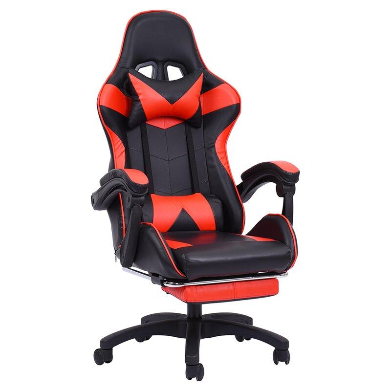 Inbox Zero Racing Chair with Footrest