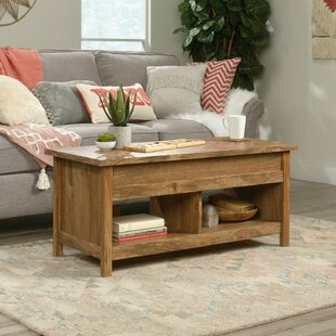 Natick Solid Wood Lift Top 4 Legs Coffee Table With Storage By Foundry Select