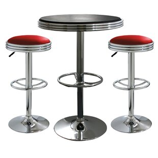 Southampton 3 Piece Adjustable Height Pub Table Set by Latitude Run