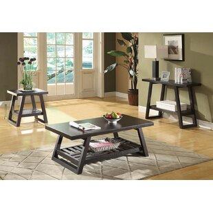 Gracie Oaks Tocco 3 Piece Coffee Table Set