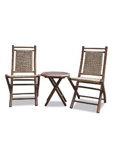 Best Exchange Bamboo Outdoor Conversation 3 Piece 2 Person Seating Group Best Reviews