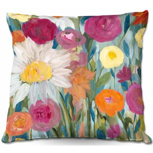 Earth at Daybreak Flowers Throw Pillow