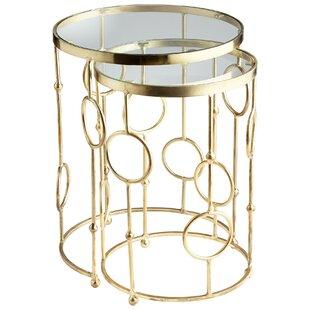 Perseus 2 Piece Nesting Tables by Cyan De..