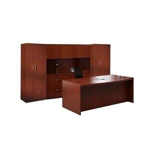 Mayline Group Aberdeen 8-PIece Series Standard Desk Office Suite