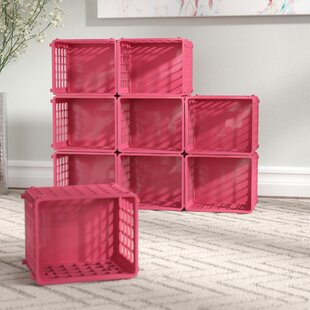 Read Reviews Modular Storage Plastic Cube (Set of 9) By Rebrilliant