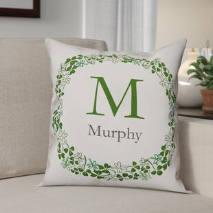 Tulley Family Clover Wreath Throw Pillow